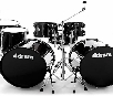 ddrum Journeyman Double Down 7-Piece Drum Kit Mid Black