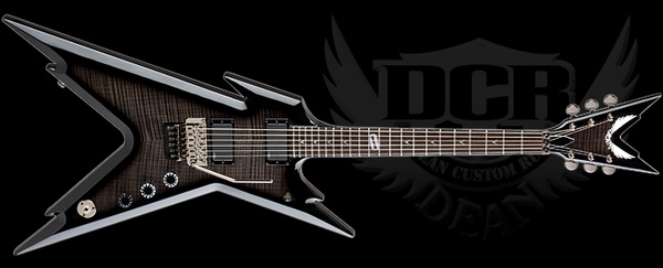 Dean Custom Run RAZORBACK TRANS BLACKBURST