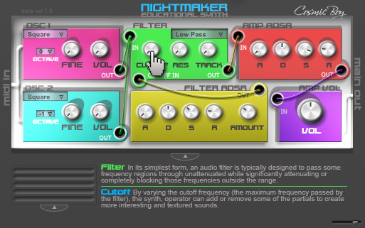 Nightmaker Studios Educational Synth