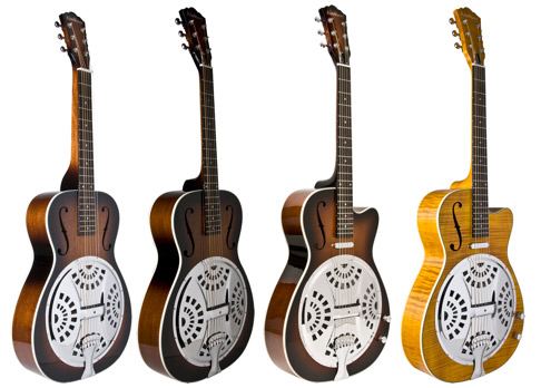 Washburn Guitars Resonator R15S, R15R, R15RCE, R45RCE
