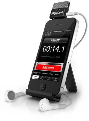 IK Multimedia iRig Mic Cast iPhone iPod touch iPad