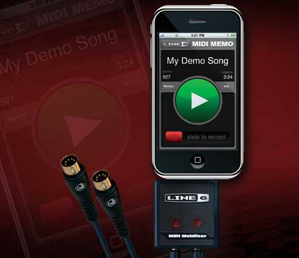 Line 6 SDK MIDI Mobilizer iPhone, iPod touch iPad
