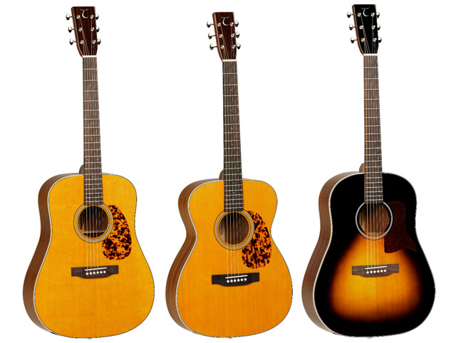Sundance Historic TW40-D-AN Dreadnought, TW40-O-AN Orchestra TW40-SD-VS Slope-Shouldered Dreadnought