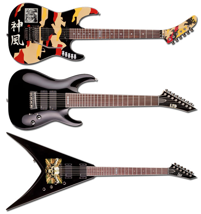 ESP Guitars LTD GL-200K George Lynch LTD SC-208 Stephen Carpenter Deftones LTD MP-200 Michael Paget Bullet for My Valentine